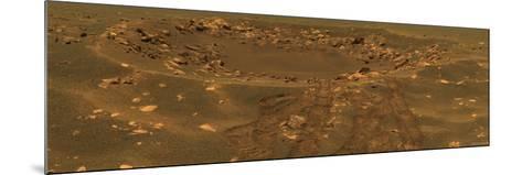 Impact Crater in the Meridian Planum Region of Mars-Stocktrek Images-Mounted Photographic Print