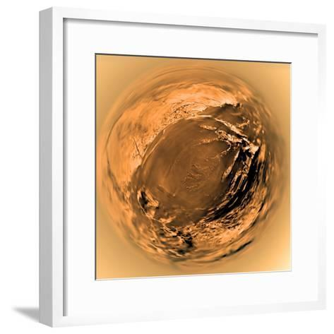 Fish-Eye View of Titan's Surface-Stocktrek Images-Framed Art Print