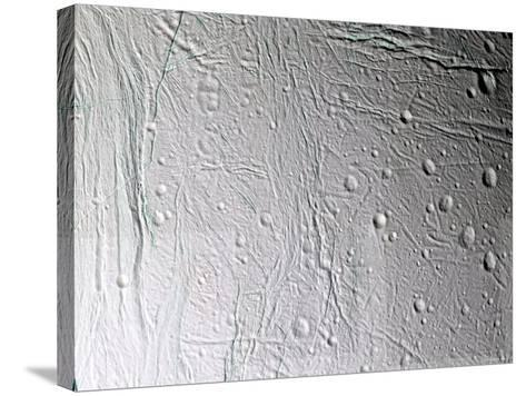 Saturn's Moon Enceladus-Stocktrek Images-Stretched Canvas Print
