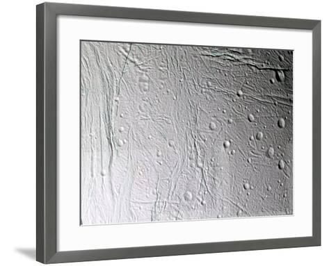 Saturn's Moon Enceladus-Stocktrek Images-Framed Art Print
