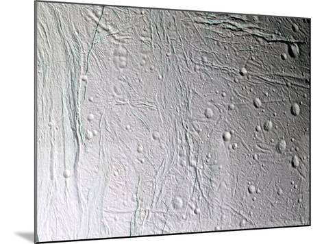 Saturn's Moon Enceladus-Stocktrek Images-Mounted Photographic Print