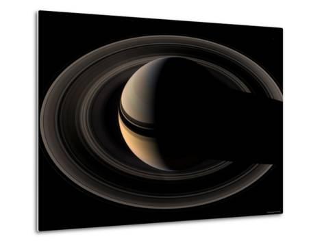 Saturn-Stocktrek Images-Metal Print