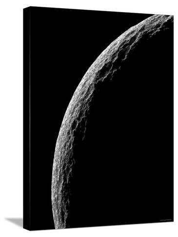 Saturn's Moon Tethys-Stocktrek Images-Stretched Canvas Print