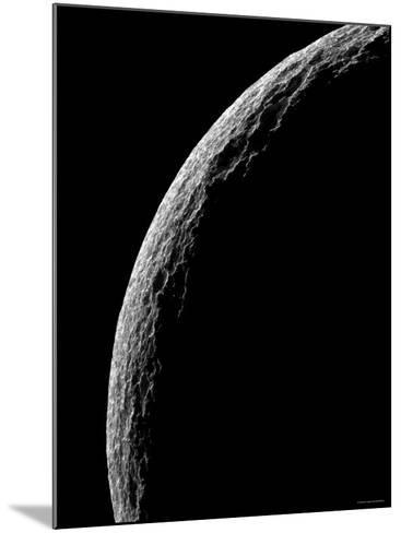 Saturn's Moon Tethys-Stocktrek Images-Mounted Photographic Print