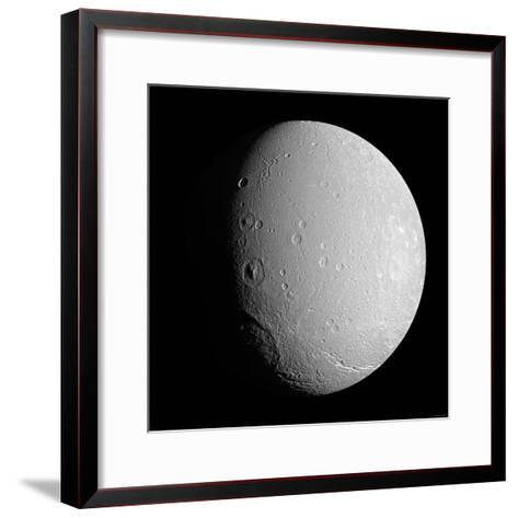 Saturn's Moon Dione-Stocktrek Images-Framed Art Print