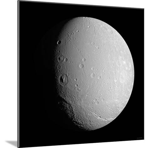 Saturn's Moon Dione-Stocktrek Images-Mounted Photographic Print