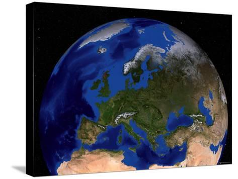 Blue Marble Next Generation Seasonal Landcover-Stocktrek Images-Stretched Canvas Print