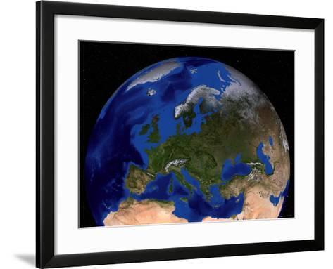 Blue Marble Next Generation Seasonal Landcover-Stocktrek Images-Framed Art Print