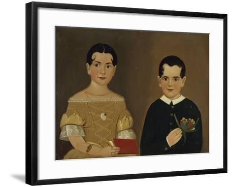 Two Children of Captain Christopher and Mrs. Ruth Andrews-William Matthew Prior-Framed Art Print