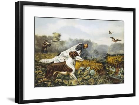 American Field Sports, a Chance For Both Barrels-Currier & Ives-Framed Art Print