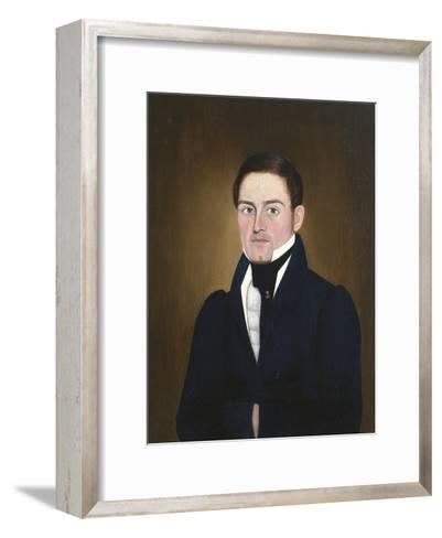 Portrait of a Sea Captain: James Reed of Newburyport, Massachusetts-John Brewster-Framed Art Print