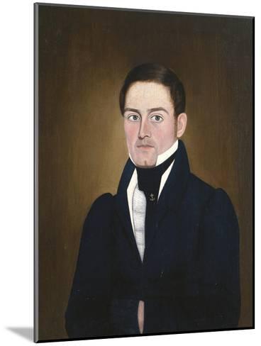 Portrait of a Sea Captain: James Reed of Newburyport, Massachusetts-John Brewster-Mounted Giclee Print