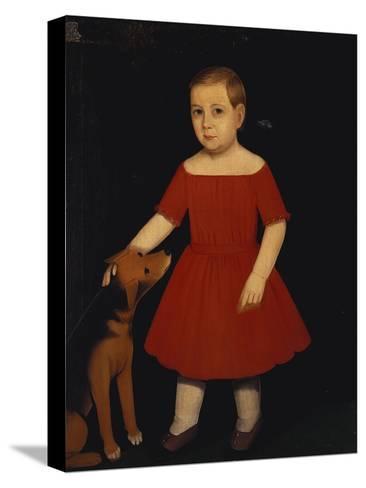Portrait of Milo Barnum Richardson, c.1852-Ammi Phillips-Stretched Canvas Print