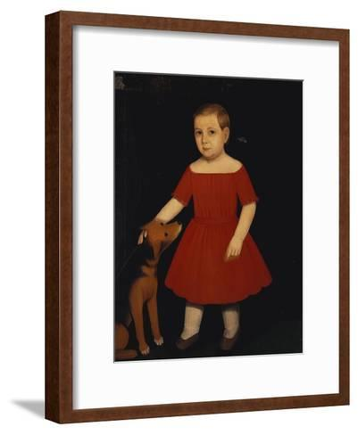 Portrait of Milo Barnum Richardson, c.1852-Ammi Phillips-Framed Art Print