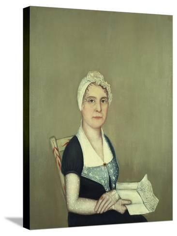 Sarah Cornwall Everest, 1812-Ammi Phillips-Stretched Canvas Print