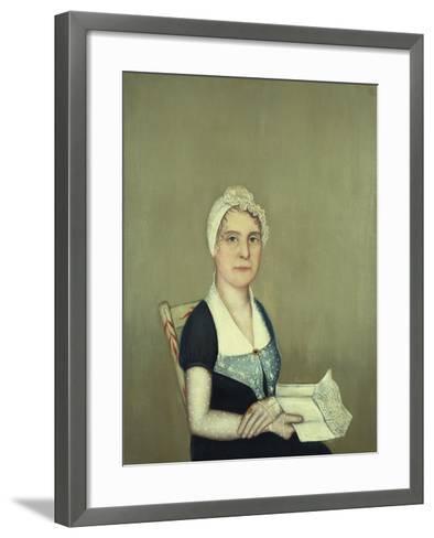 Sarah Cornwall Everest, 1812-Ammi Phillips-Framed Art Print