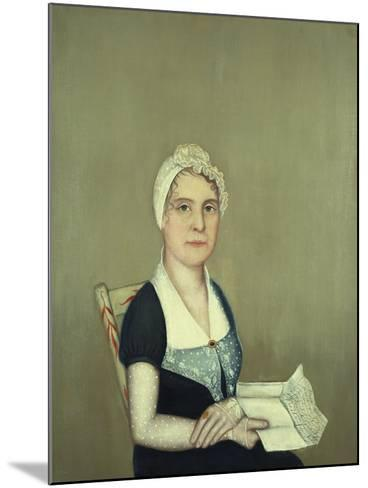 Sarah Cornwall Everest, 1812-Ammi Phillips-Mounted Giclee Print