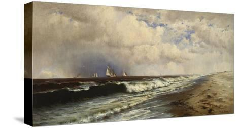 Passing Shower-Francis Augustus Silva-Stretched Canvas Print