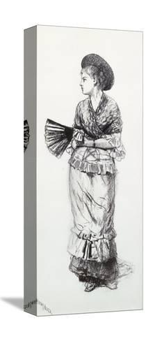 Girl with Fan-Winslow Homer-Stretched Canvas Print
