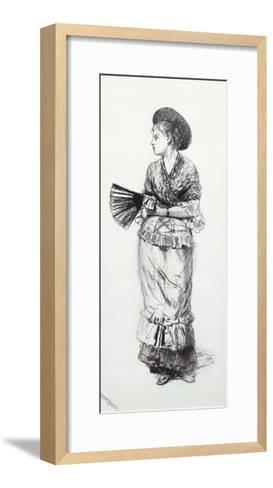 Girl with Fan-Winslow Homer-Framed Art Print