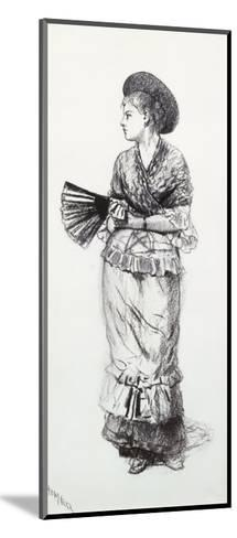 Girl with Fan-Winslow Homer-Mounted Giclee Print