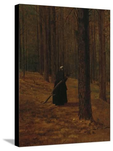 Old Woman Gathering Brush, 1865-Winslow Homer-Stretched Canvas Print