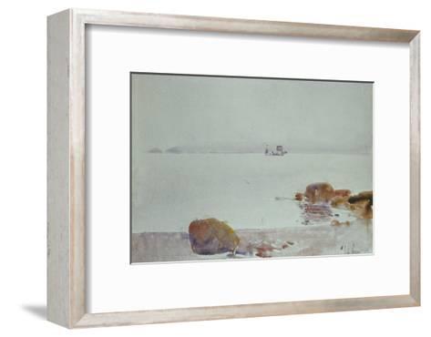 Seascape-Childe Hassam-Framed Art Print