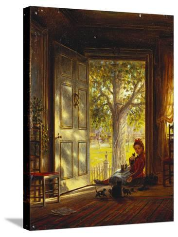 In the Glow, Sunset, 1872-Edward Lamson Henry-Stretched Canvas Print