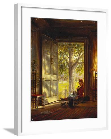 In the Glow, Sunset, 1872-Edward Lamson Henry-Framed Art Print