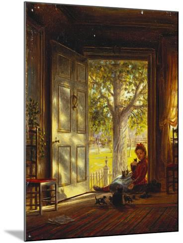 In the Glow, Sunset, 1872-Edward Lamson Henry-Mounted Giclee Print