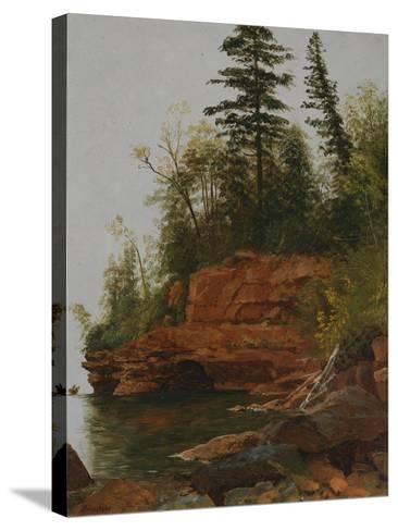 Rocky Cove-Albert Bierstadt-Stretched Canvas Print