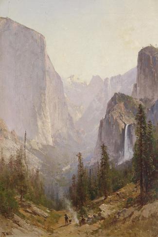 Yosemite Waterfall-Thomas Hill-Stretched Canvas Print