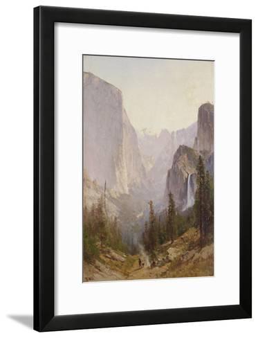 Yosemite Waterfall-Thomas Hill-Framed Art Print