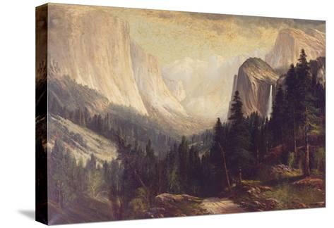Yosemite Valley-Josef Englehart-Stretched Canvas Print