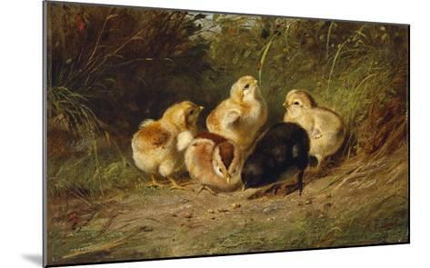 Chickens, 1878-Arthur Fitzwilliam Tait-Mounted Giclee Print