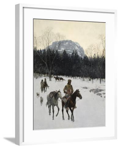 Obsidian Mountain in Yellowstone, 1895-Henry F^ Farny-Framed Art Print