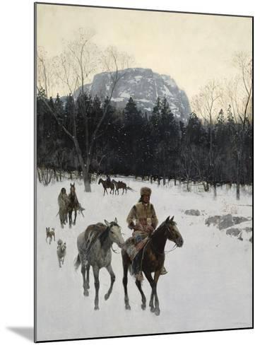 Obsidian Mountain in Yellowstone, 1895-Henry F^ Farny-Mounted Giclee Print