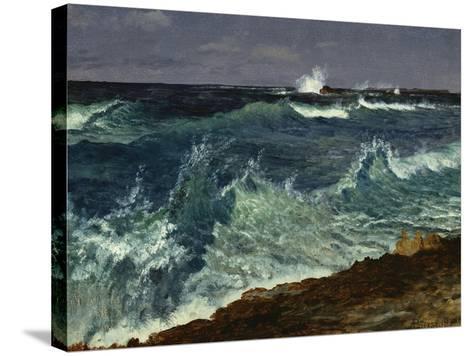 Seascape-Albert Bierstadt-Stretched Canvas Print