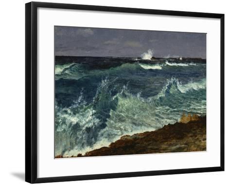Seascape-Albert Bierstadt-Framed Art Print