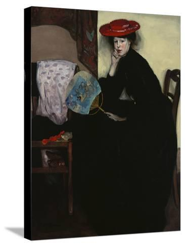 Model with a Japanese Fan-Alfred Henry Maurer-Stretched Canvas Print