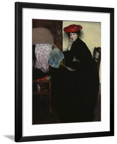 Model with a Japanese Fan-Alfred Henry Maurer-Framed Art Print