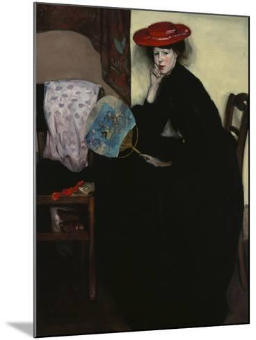 Model with a Japanese Fan-Alfred Henry Maurer-Mounted Giclee Print