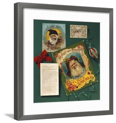 Visit from St. Nicholas, The First Commercial Christmas Greeting Card, London, c.1860--Framed Art Print