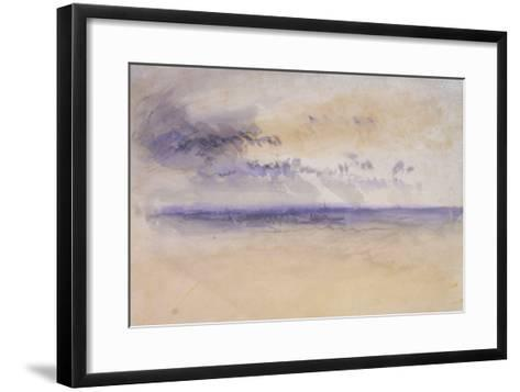 Off the Coast: Seascape and Clouds, 19th Century-J^ M^ W^ Turner-Framed Art Print