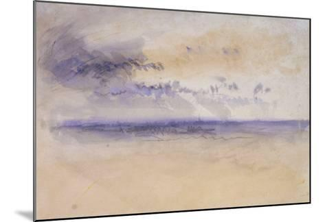 Off the Coast: Seascape and Clouds, 19th Century-J^ M^ W^ Turner-Mounted Giclee Print