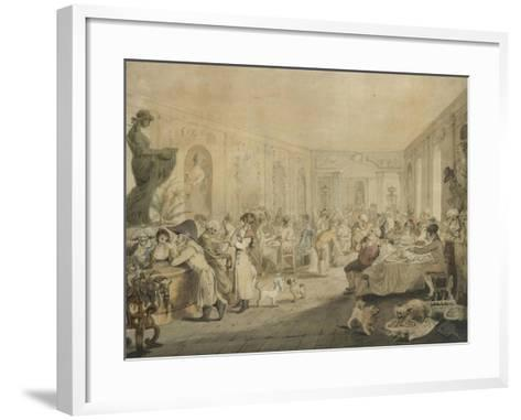 Very's Restaurant in the Palais Royal, Paris, 1803-John Nixon-Framed Art Print