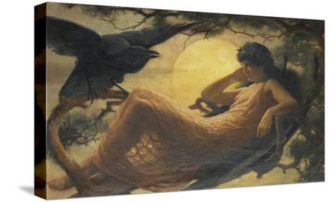 And the Night Raven Sings, Bosom'd High in the Tufted Trees, Where Perhaps Some Beauty Lies-John Scott-Stretched Canvas Print