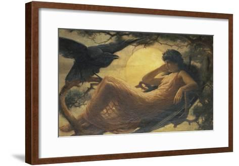 And the Night Raven Sings, Bosom'd High in the Tufted Trees, Where Perhaps Some Beauty Lies-John Scott-Framed Art Print