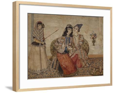 Two Lovers. Qajar Persia, Ah 1254 / 1838 Ad--Framed Art Print