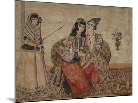 Two Lovers. Qajar Persia, Ah 1254 / 1838 Ad--Mounted Giclee Print